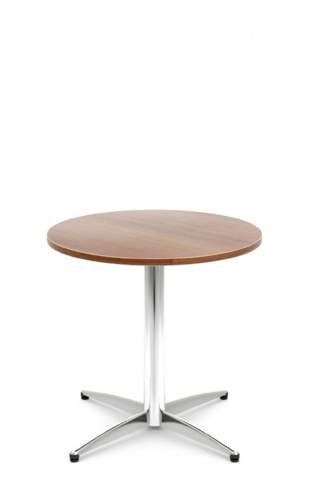 Pledge Unify Large Bistro Wooden Top Table With Four Star Base 800mm